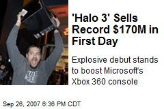 'Halo 3' Sells Record $170M in First Day