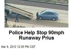 Police Help Stop 90mph Runaway Prius