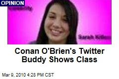 Conan O'Brien's Twitter Buddy Shows Class
