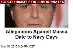 Allegations Against Massa Date to Navy Days