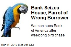 Bank Seizes House, Parrot of Wrong Borrower