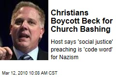Christians Boycott Beck for Church Bashing