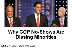 Why GOP No-Shows Are Dissing Minorities