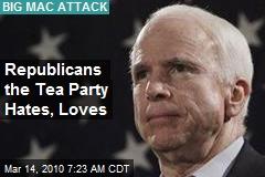 Republicans the Tea Party Hates, Loves