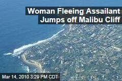 Woman Fleeing Assailant Jumps off Malibu Cliff