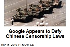 Google Appears to Defy Chinese Censorship Laws