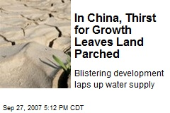 In China, Thirst for Growth Leaves Land Parched