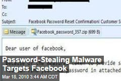Password-Stealing Malware Targets Facebook