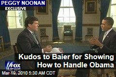 Kudos to Baier for Showing How to Handle Obama
