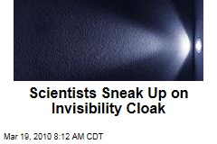 Scientists Sneak Up on Invisibility Cloak