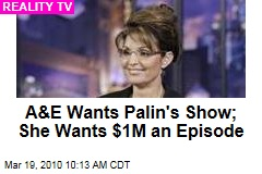 A&E Wants Palin's Show; She Wants $1M an Episode