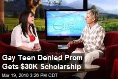 Gay Teen Denied Prom Gets $30K Scholarship
