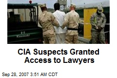 CIA Suspects Granted Access to Lawyers