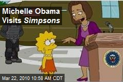 Michelle Obama Visits Simpsons