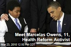 Meet Marcelas Owens, 11, Health Reform Activist