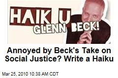 Annoyed by Beck's Take on Social Justice? Write a Haiku