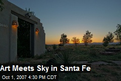 Art Meets Sky in Santa Fe