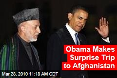 Obama Makes Surprise Trip to Afghanistan