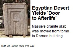 Egyptian Desert Yields 'Door to Afterlife'
