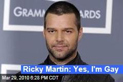 Ricky Martin: Yes, I'm Gay