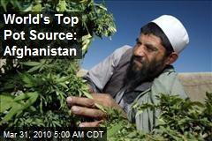 World's Top Pot Source: Afghanistan