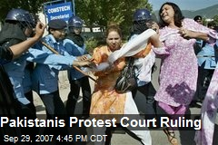 Pakistanis Protest Court Ruling