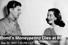 Bond's Moneypenny Dies at 80