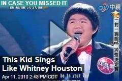 This Kid Sings Like Whitney Houston
