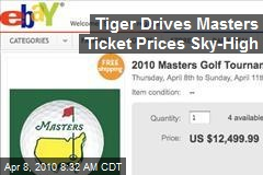 Tiger Drives Masters Ticket Prices Sky-High