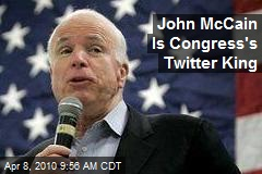 John McCain Is Congress's Twitter King