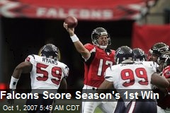 Falcons Score Season's 1st Win