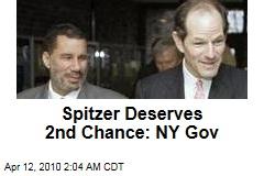 Spitzer Deserves 2nd Chance: NY Gov