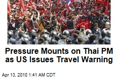 Pressure Mounts on Thai PM as US Issues Travel Warning