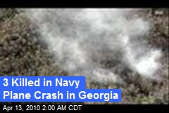 3 Killed in Navy Plane Crash in Georgia