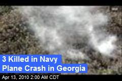 3 Killed in Navy Plane Crash in Georgia