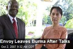 Envoy Leaves Burma After Talks
