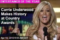 Carrie Underwood Makes History at Country Awards