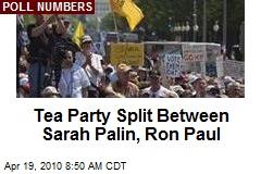 Tea Party Split Between Sarah Palin, Ron Paul
