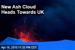 New Ash Cloud Heads Towards UK