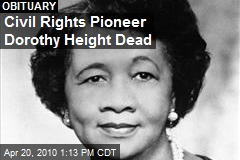 Civil Rights Pioneer Dorothy Height Dead