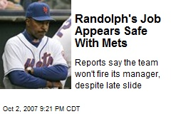 Randolph's Job Appears Safe With Mets
