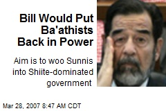 Bill Would Put Ba'athists Back in Power