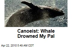 Canoeist: Whale Drowned My Pal