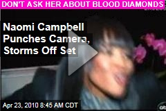 Naomi Campbell Punches Camera, Storms Off Set