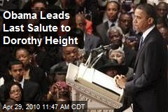 Obama Leads Last Salute to Dorothy Height