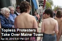 Topless Protesters March for Women's Rights