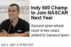 Indy 500 Champ to Join NASCAR Next Year
