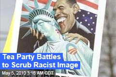 Tea Party Battles to Scrub Racist Image