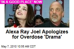 Alexa Ray Joel Apologizes for Overdose 'Drama'