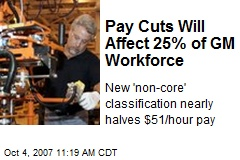 Pay Cuts Will Affect 25% of GM Workforce